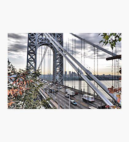 George Washington Bridge from Overlook Park Photographic Print
