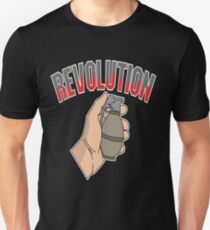 This is the awesome revolutionary Tshirt Those who make peaceful revolution THE REVOLUTION FIST Unisex T-Shirt