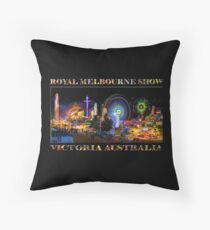 Fairground Attraction (poster on black) Throw Pillow