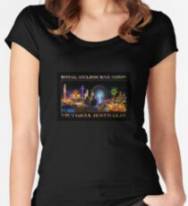 Fairground Attraction (poster on black) Women's Fitted Scoop T-Shirt