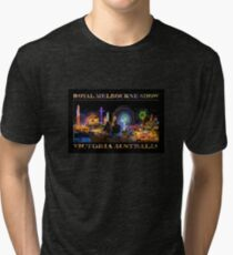 Fairground Attraction (poster on black) Tri-blend T-Shirt