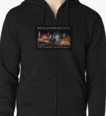 Fairground Attraction (poster on black) Zipped Hoodie