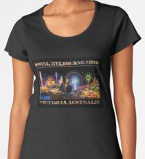 Fairground Attraction (poster on black) Women's Premium T-Shirt