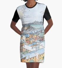 Panoramic of Genoa Graphic T-Shirt Dress