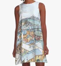 Panoramic of Genoa A-Line Dress