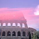 Colosseum Rome Italy Romantic Sky 2 by hurmerinta
