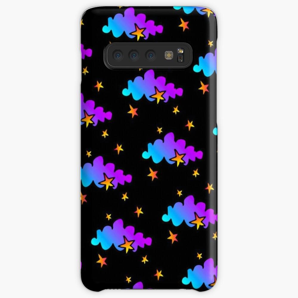 Nachtwolken und Sterne - Iphone u. Galaxie-Kästen Hülle & Klebefolie für Samsung Galaxy