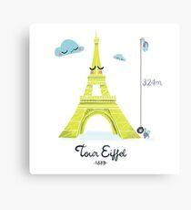 Tour Eiffel Impression métallique