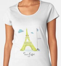 Tour Eiffel T-shirt premium femme