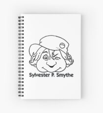 Sylvester P. Smythe '90s Contents-page Masthead black and white logo Spiral Notebook
