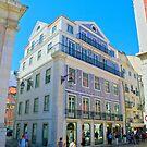 Baixa Pombalina. Portuguese tiles at Rua das Portas de Santo Antão. Lisbon by terezadelpilar ~ art & architecture