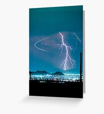 Bo Trek Lightning Strike  Greeting Card