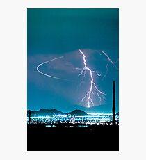 Bo Trek Lightning Strike  Photographic Print