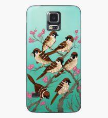 Sakura Sparrows Case/Skin for Samsung Galaxy
