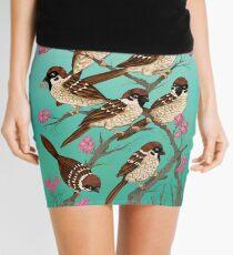 Sakura Sparrows Mini Skirt