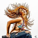 """Fine Erotic Art Photography Poster Print - """" Hairflip - Modern Pinup"""" Featuring a Hot Sexy Redhead Bikini Model - Tshirts - Mugs - Phone Cases and More.   by Nico Simon Princely"""