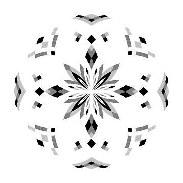 Mandala 17 - Grayscale by Cybarxz