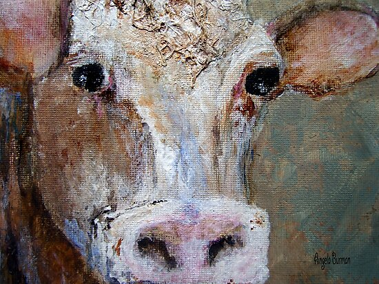 Nosy Cow by Angela  Burman