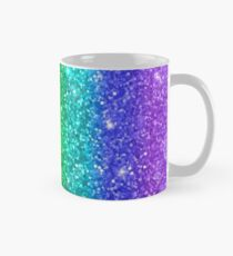 Faux Glitter Rainbow All Over Print Mug