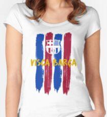 Camiseta entallada de cuello redondo Visca Barça Barcelona a1ed30a82e9