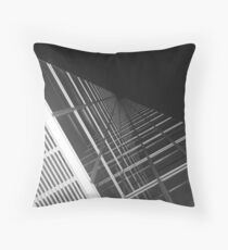 Squares in Black and White Throw Pillow
