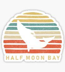 Retro Half Moon Bay Dolphin Gift Sticker