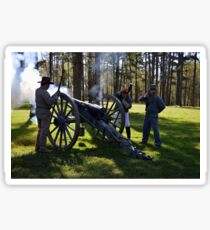 Firing the Cannon at Camp Ford. Sticker