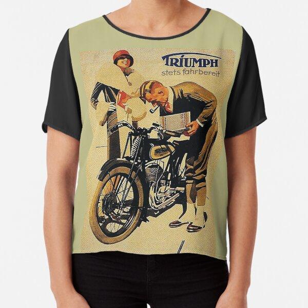 Triumph Motorcycles, Nuremberg...vintage ad Chiffon Top