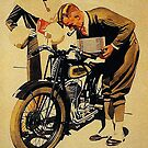 Triumph Motorcycles, Nuremberg...vintage ad by edsimoneit