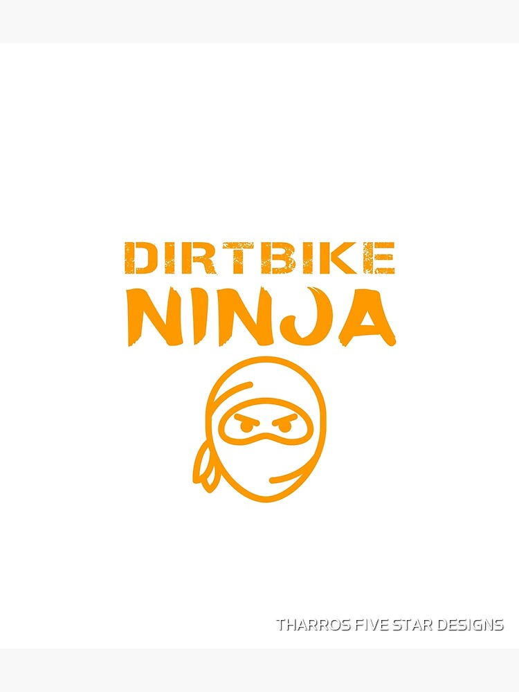 Dirtbike Ninja Funny Motocross Enduro Motorbike Gifts by kalamiotis13