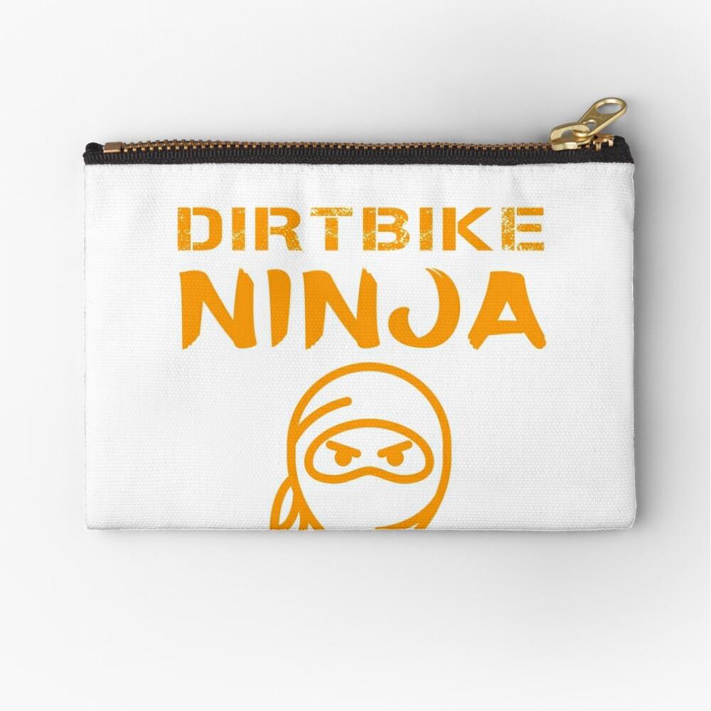 Dirtbike Ninja Funny Motocross Enduro Motorbike Gifts Zipper Pouch