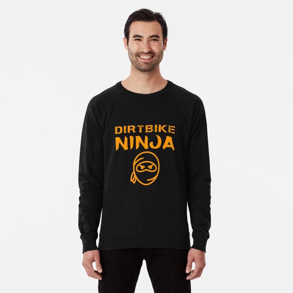 Dirtbike Ninja Funny Motocross Enduro Motorbike Gifts Lightweight Sweatshirt