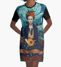 frida kahlo starry night Graphic T-Shirt Dress