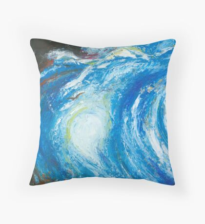 "Coming Home No 1 - ""Blue Sky"" Throw Pillow"