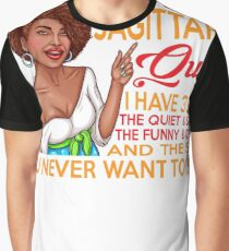 I'M A SAGITTARIUS QUEEN I HAVE 3 SIDES Graphic T-Shirt