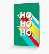 HO HO HO Christmas Typography Greeting Card