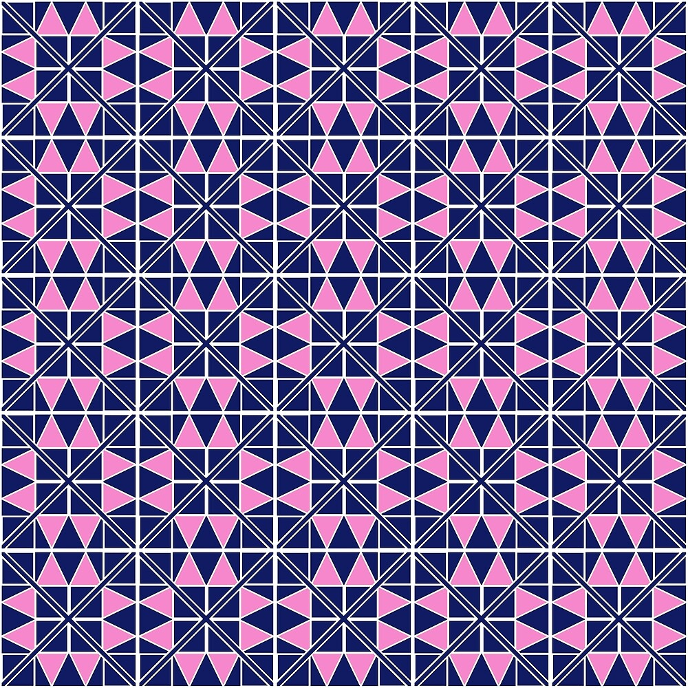 Navy Glow Pattern  by GillianAdams