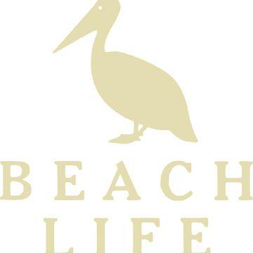 Beach Life Pelican by derpfudge