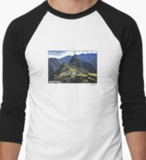 Machu Pixel Men's Baseball ¾ T-Shirt