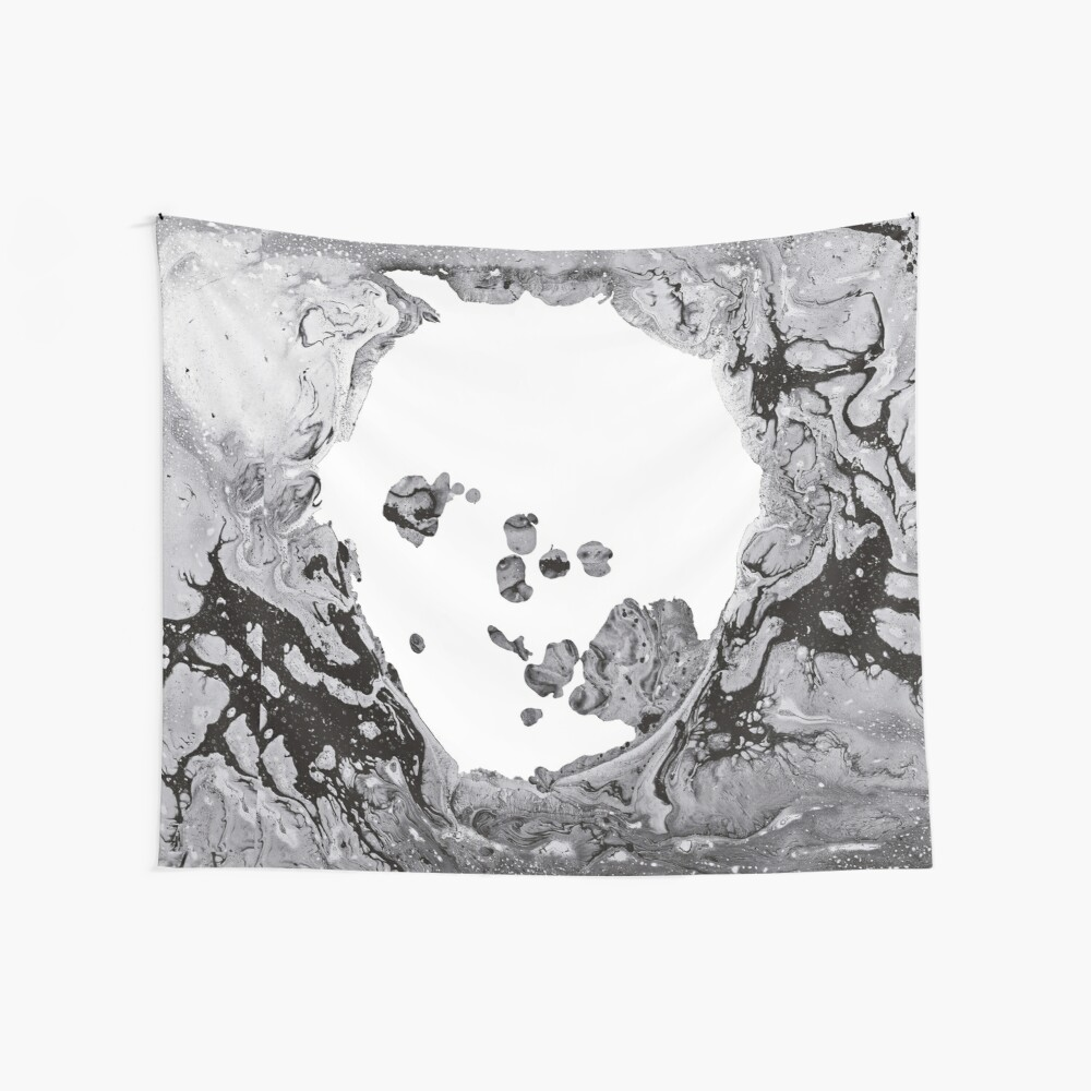A Moon Shaped Pool Wall Tapestry