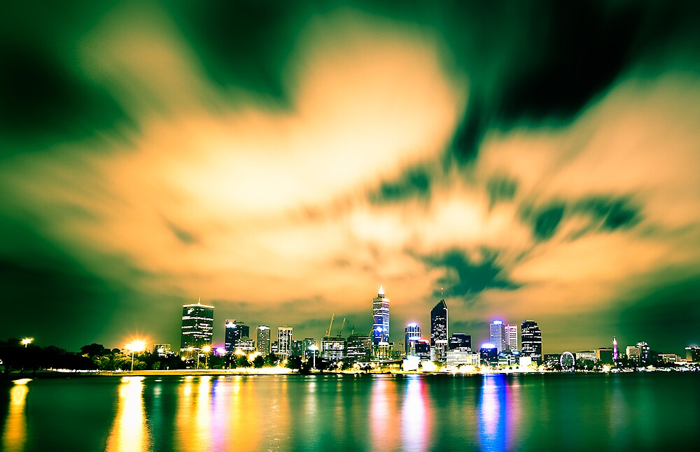 Perth Skyline by sixfootfour