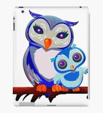 Cute Owls, Mommy and Baby Owl iPad Case/Skin