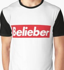Belieber Skateboard Logo Graphic T-Shirt