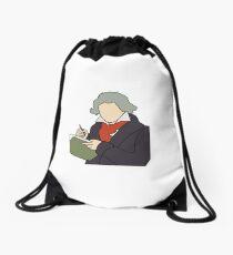 Beethoven Illustration Drawstring Bag