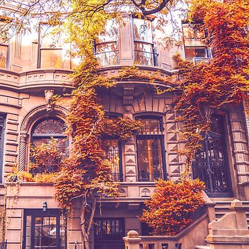 Autumn Brownstones Nueva York de vgucwaphoto