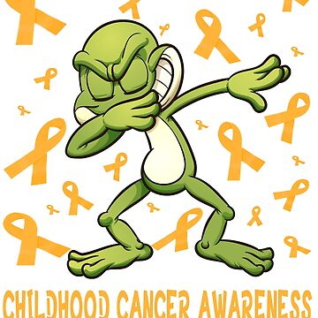 Funny childhood cancer awareness Tee - NEW dabbing frog warrior tee shirt by mirabhd