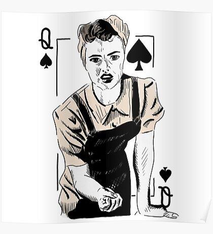 Wartime Land Girl Queen of Spades Poster