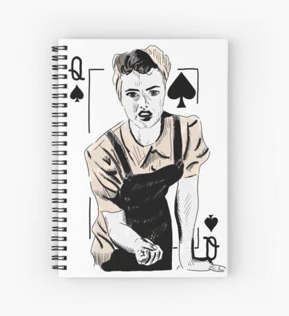 Wartime Land Girl Queen of Spades Spiral Notebook