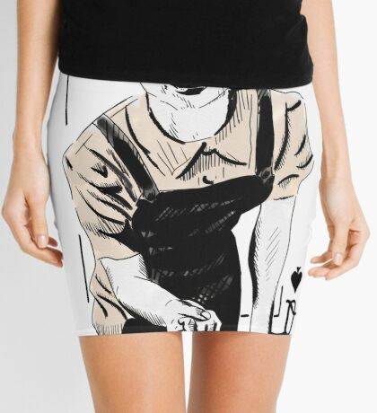 Wartime Land Girl Queen of Spades Mini Skirt