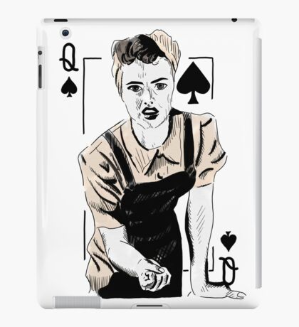 Wartime Land Girl Queen of Spades iPad Case/Skin